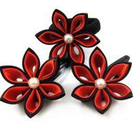 czarno-czerwony komplet dla dziewczynki