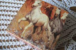Drewniana skrzynka - konie 3