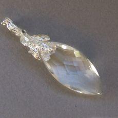 Romantyczny wisior srebrny -Navette