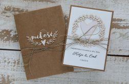 Oryginalna kartka ślubna i pudełko 8