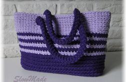 Torba bawełniana-dwa odcienie fioletu