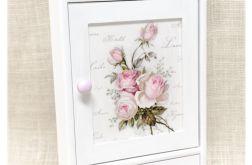 Szafka na klucze z szufladką, Róże