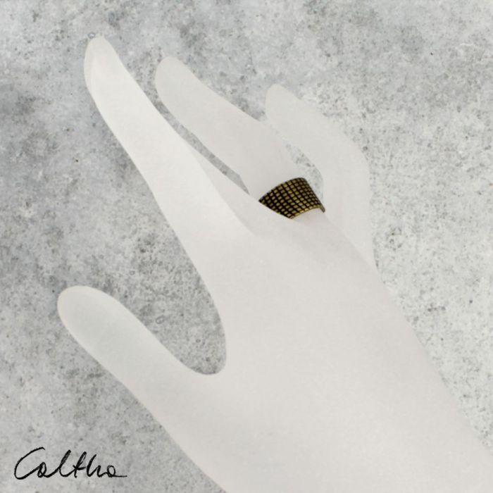 Kratka - mosiężna obrączka 130620-03