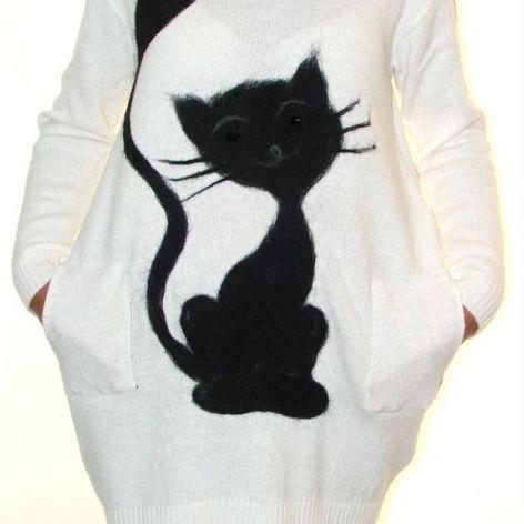 Sukienka filcowana kot