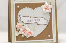 Kartka ślubna z sercem KS18012