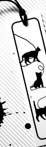 Kocie Zabawy - zakładka do książki z pvc