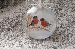 Bombka medalion z ptakami