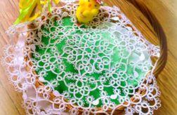 Wielkanocna frywolitka na koszyczek