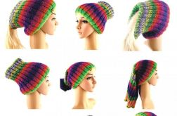komin-golf-czapka-tunel kolorowy