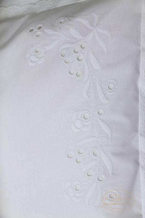 """Biała pościel  """"Zimowe kwiaty"""""""