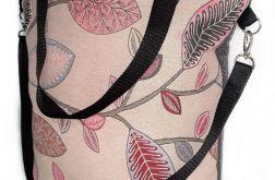 Torebka damska torba shopper wzór liście