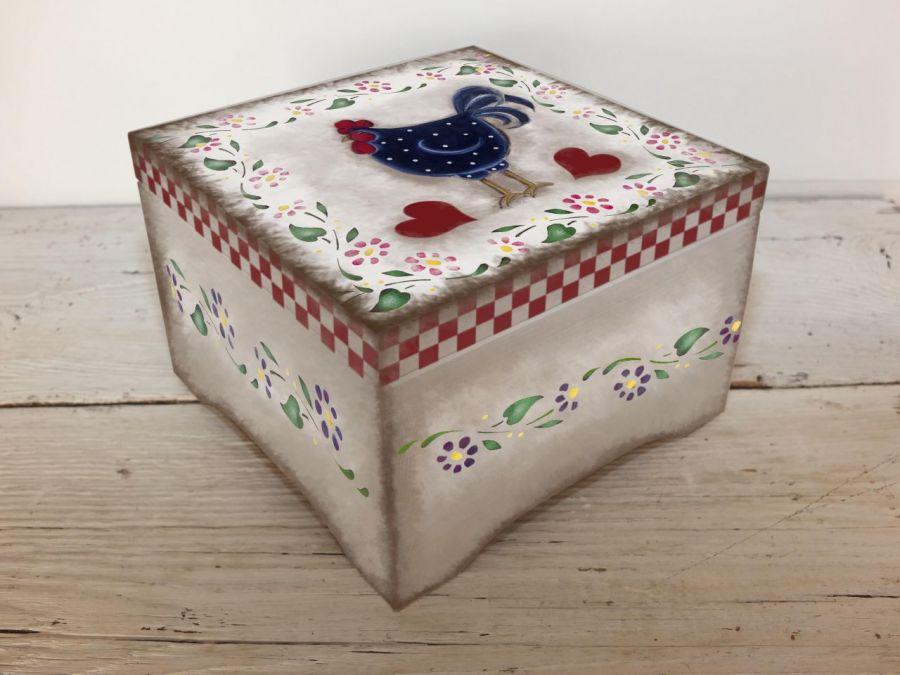 Pudełko Szkatułka Drewniana Rustykalna  Prezent
