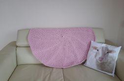 Dywan okrągły -  różowy
