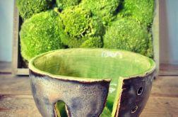 Miska na włóczkę zielona