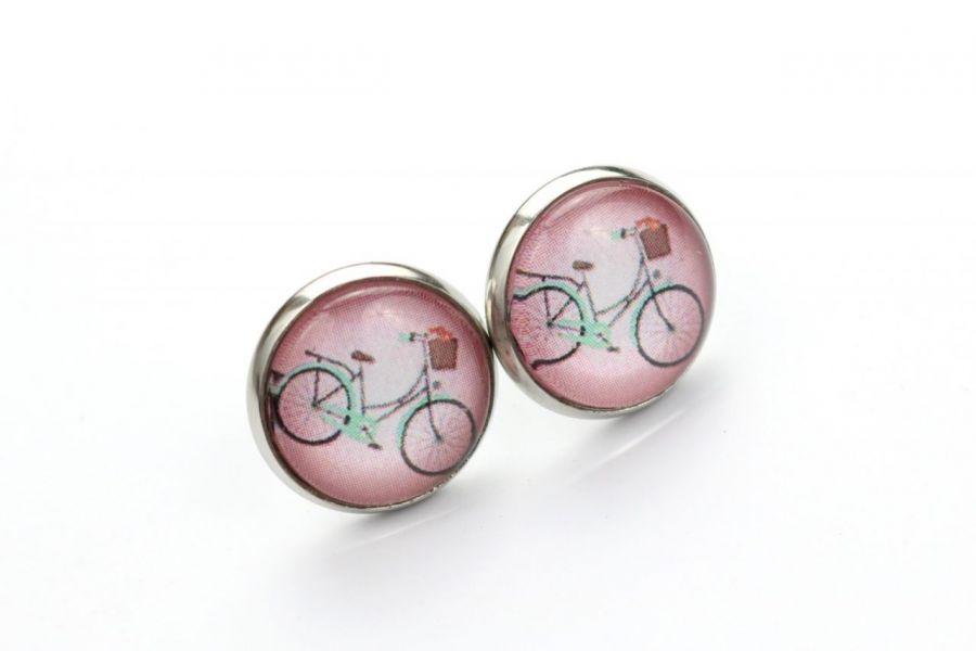 Wkrętki z rowerem w różu