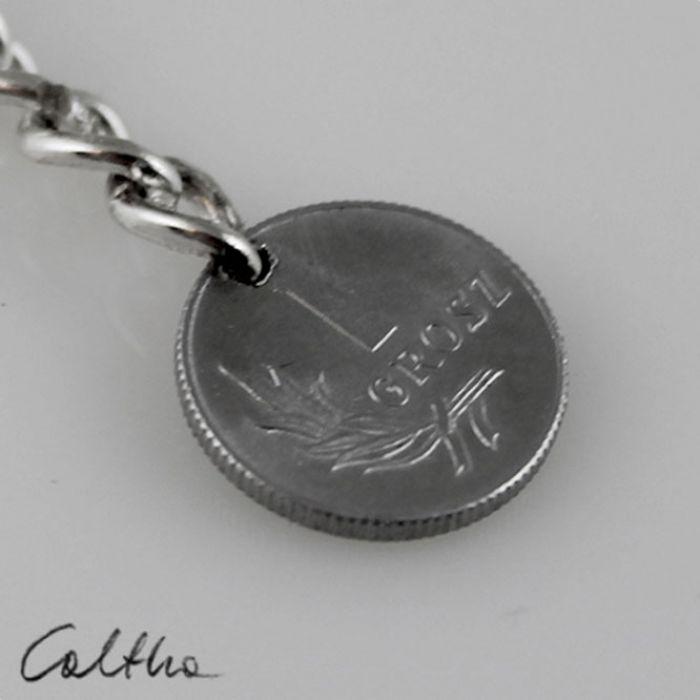 Grosik - breloczek moneta