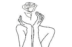 """Grafika autorska, plakat """"Dłonie i róża"""" 30x40"""