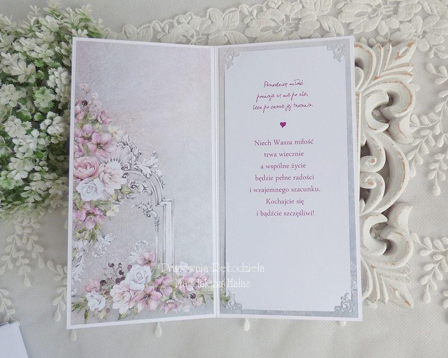 Ślubna kartka  w pudełku 318 -