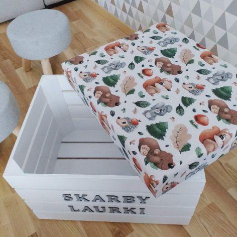 Skrzynka pudełko na zabawki z siedziskiem