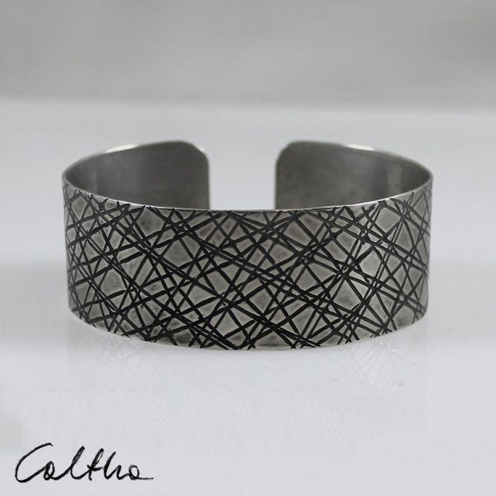 Metalowa bransoleta - skosy 171029-05