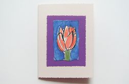 Kartka kwiatek malowany  nr 12