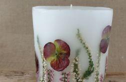 świece FLORA -z naturalnymi roślinami #11