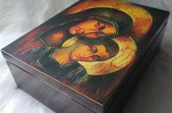 duża szkatułka z ikoną - Maryja z Jezusem