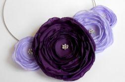 Kwiatowy naszyjnik fiolety