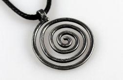 spiralny - srebrny wisiorek 2110-02