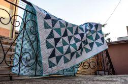 Narzuta patchwork dwustronna pikowana kołdra