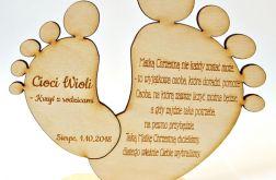 CHRZESTNYM prośba STÓPKI chrzest ZAPROSZENI