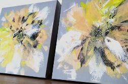 Zestaw obrazów abstrakcja kwiaty (Ao07)