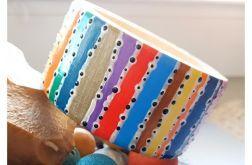 4745 ręcznie malowana bransoletka boho