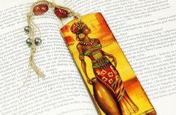 drewniana zakładka do książki- Afryka