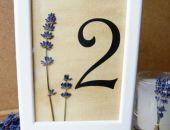 Dwustronne numery na stoły weselne z kawiatami