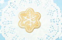 PIERNICZEK śnieżynka świąteczna broszka