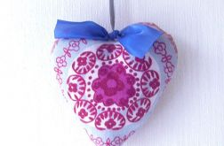 Serduszko fioletowe-dekoracja