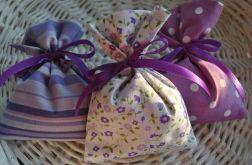 3 Woreczki płócienne z lawendą - fiolet