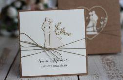 Rustykalna kartka ślubna z pudełkiem 16