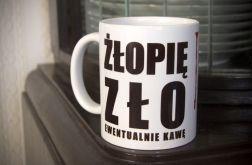Kubek z napisem Żłopię zło, ewentualnie kawę
