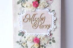 Kartka ślubna różowa 180817