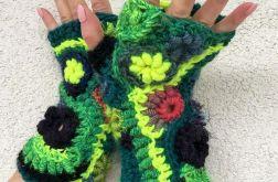 Mitenki freeform crochet neon