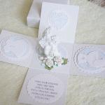 Biały exploding box na chrzest z aniołkiem.1