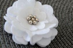 FairyBows SPINECZKA * DUŻY kwiatek 3D biały