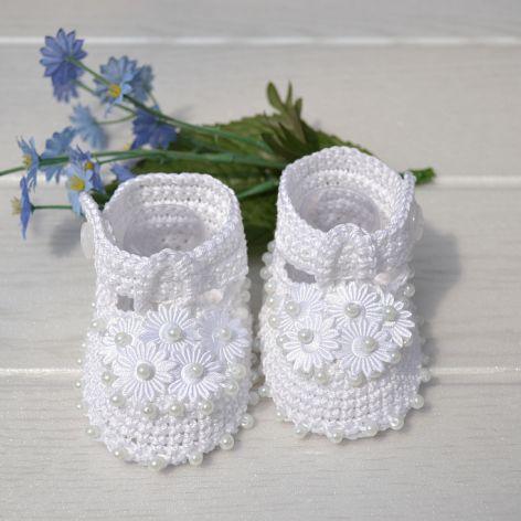 Urocze białe buciki na  1-4 miesiące