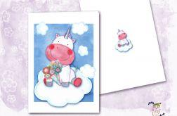 Autorska kartka urodzinowa z Jednorożcem Mila