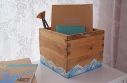 Ręcznie malowane pudełko, Góry