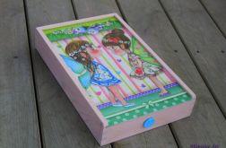 Pudełko na zdjęcia dla dziewczynki, piórnik,