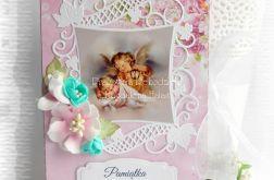 Album 10x15 z turkusowymi kwiatami