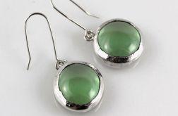 Zielone w srebrze - kolczyki 200826-02